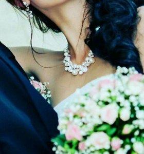 свадебное ожерелье в отличном срстоянии