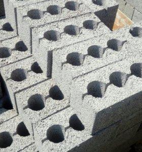 Блок стеновой, полублок. Керамзитный и из отсева.