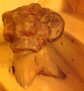 Деревянный макет мозга