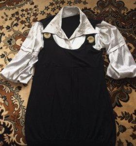 Блуза женская 50-52р, подойдёт для будущей мамы
