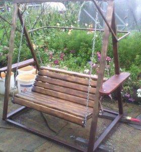 Садовые качели, скамейки, калитки