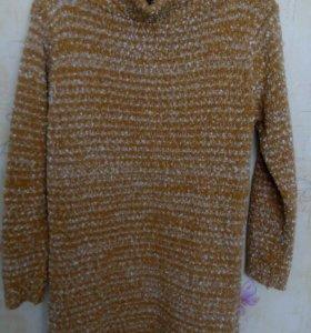 Платье-туника вязаное