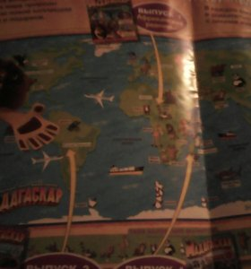 Карта мира с животными 150, плакат 5
