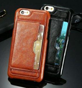 Чехол кожанный для IPhone S6