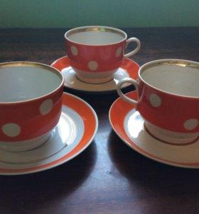 Чайные пары в горох