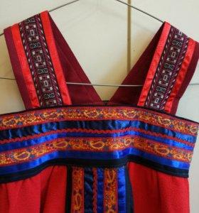 Сарафан для девочки, народный костюм.