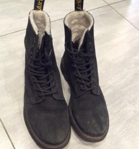 Ботинки с мехом Dr. Martens