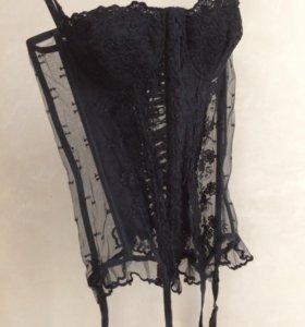 Корсет с подвязками, бюстье, нижнее бельё