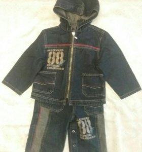 Комбинезон джинсовый с курткой