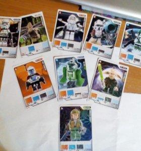 9 карточек из игры lego star wars