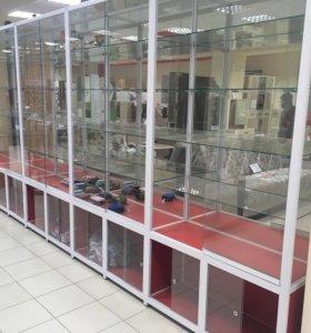 Стеклянная витрина 5,3м