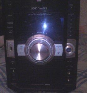 Дивиди магнитофон панасонник буфер и две колонки