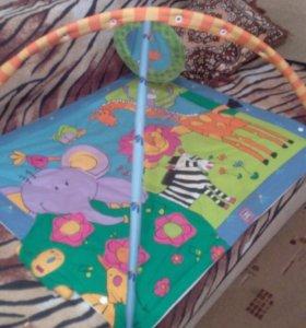 Развивающийся музыкальный коврик