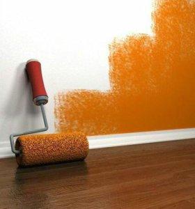 Штукатурка.шпаклёвка покраска стен .