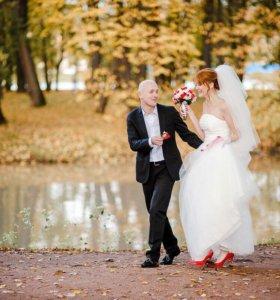 Счастливое свадебное платье+ фата