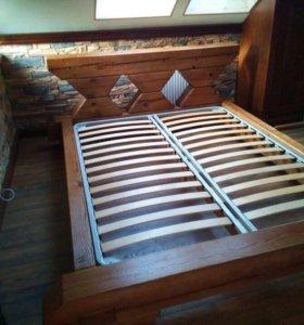 Кровать из сосны/дуба в стиле Лофт