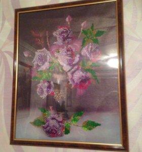 Картина(стразами) алмазная мозаика