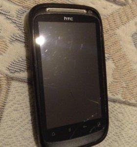 НТС, работающий телефон, только треснут экран.