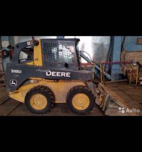 Аренда мини-погрузчика John Deere 318 D