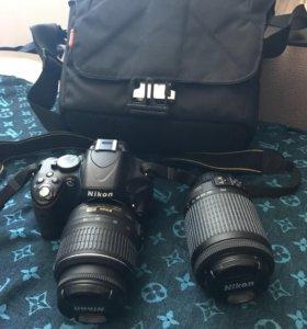фотоаппарат Nicon D5100 18-55mm + 55-200 mm