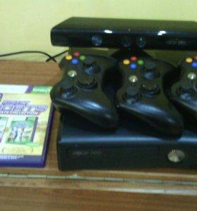 Xbox360 Slim+Kinect +2 игры для кинекта