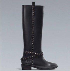 Сапоги кожаные Zara