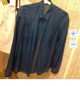 Рубашка massimo dutti шелк