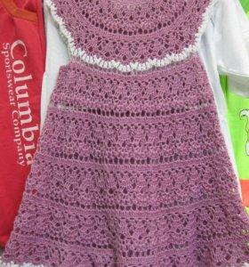 Платье вязаное лето