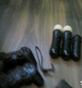PS3 Sony PlayStation3(500гб.) + 8игр+ 2 контролера