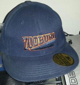 бейсболка ZOOBURG, т.синяя, новая