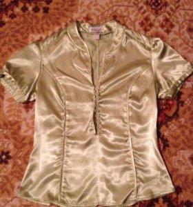 НОВАЯ атласная блузка