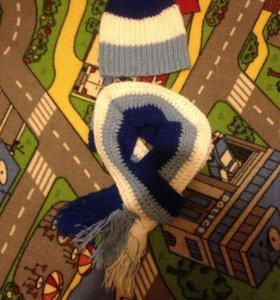 Шапка и шарф.Новые(вязанные)