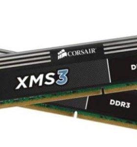 Оперативная память Corsair XMS3 DDR3, 8гб (2x4гб)