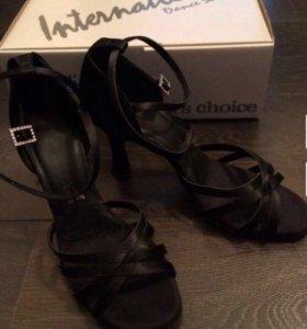 Сатиновые туфли для латиноамериканских танцев