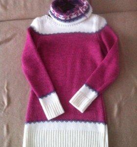 кофта удлиненная (свитер,пуловер).