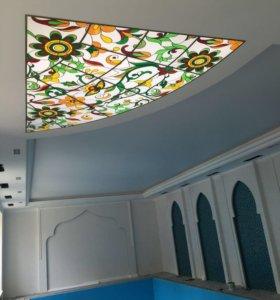 Натяжные потолки и комплектующие