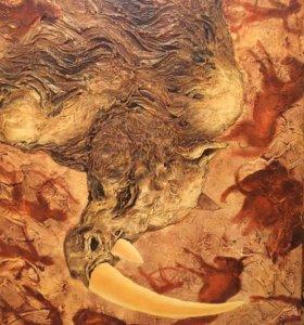 """Картина холст масло """"Носорог"""""""