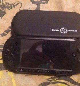 PSP,и 1 диск,5 игр на прошивке