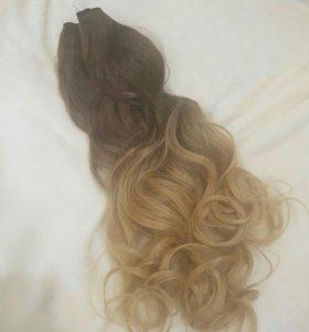 Волосы иск.на трессе омбре