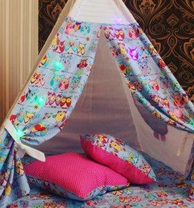 Вигвамы, буквы подушки, одеяла бон-бон...и т.д
