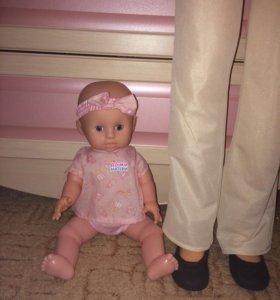 Кукла малышка с горшком