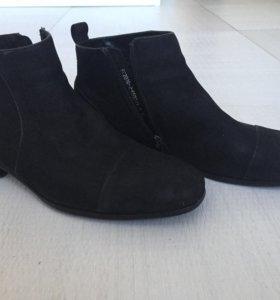 Ботинки мужские Alba, мех, натуральная кожа замша