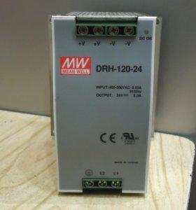 Импульсный блок питания 380×2/24 DRH 120-24 5A