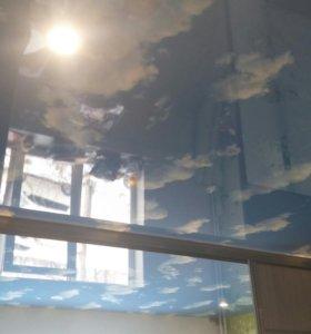 Натяжные потолки,установка