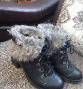 Ботинки -зима 37,5