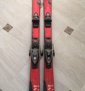 Горные лыжи+крепления+ботинки