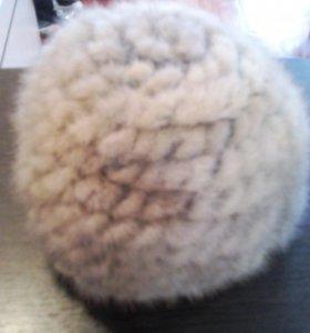 Вязаная,норковая шапка