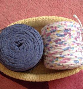 Ленточная пряжа для вязания корзинок и ковриков