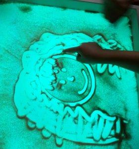 Световой планшет для рисования песком