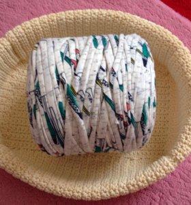Ленточная пряжа для вязания ковриков и корзинок